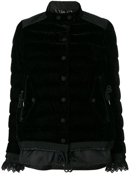 moncler jacket women cotton black
