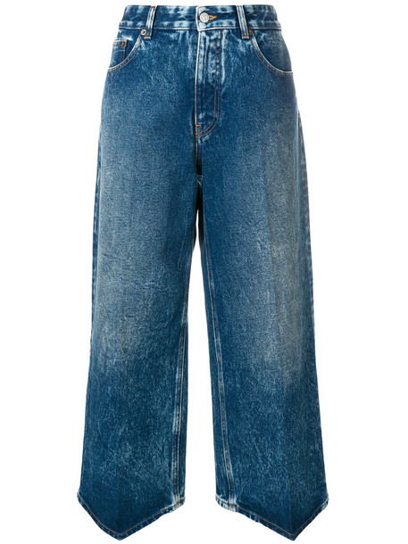Mm6 Maison Margiela jeans cropped jeans cropped high women cotton blue