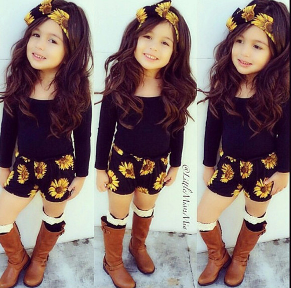 sunflower hair accessories kids fashion