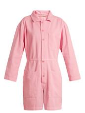 denim,cotton,pink,romper