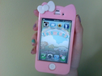 iphone iphone 4s pink baby pink cats kawaii cute cute case pastel pastel case bow white lovely girl tumblr iphone case iphone 4 case phone cover pink iphone tumblr