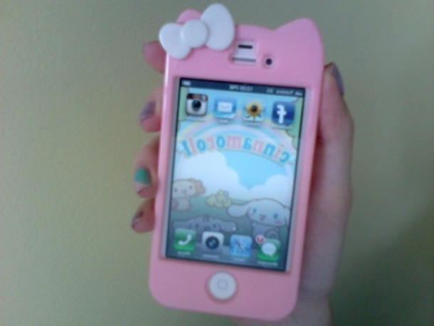 Iphone Iphone 4s Pink Baby Pink Cats Kawaii Cute Cute Case