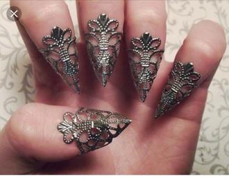 nail accessories goth cheap please dragon claws claws claws ring