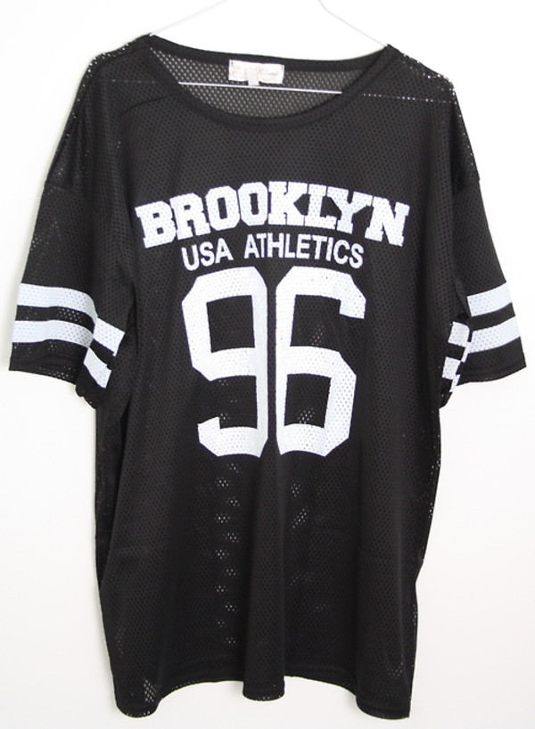 Misumi black brooklyn 96 airtex baseball t shirt for Baseball button up t shirt dress