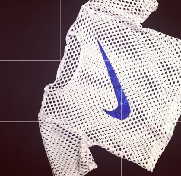 shirt nike mesh white blue