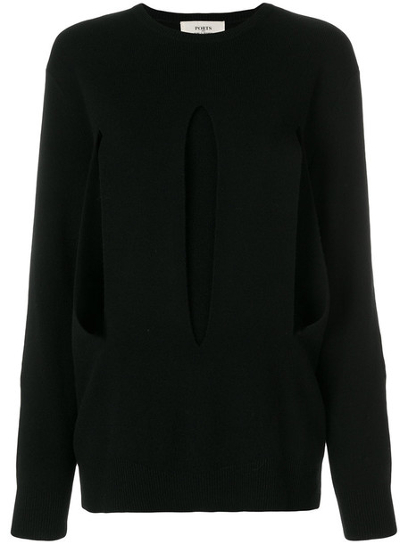 PORTS sweater women black wool