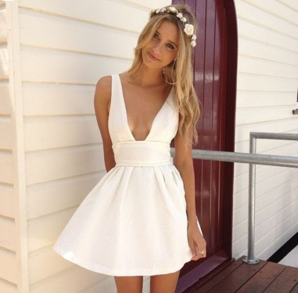 19f8849b465 dress prom dress white dress graduation dresses skater dress cut-out white  cute summer pretty