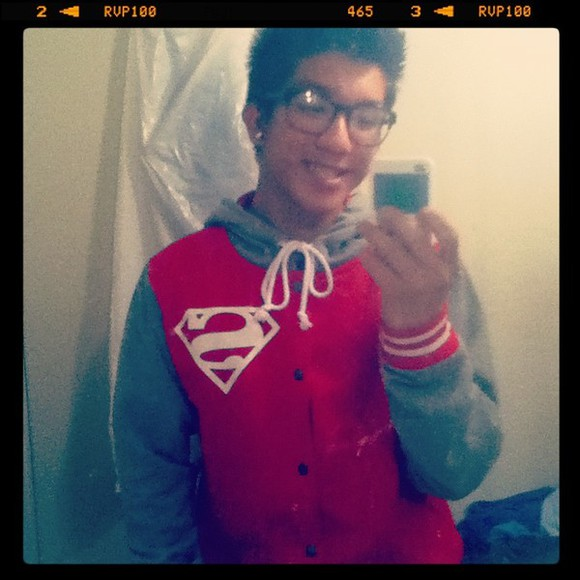 jacket letterman superman red jacket