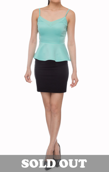 Conrad Basic Tank in Light Blue - Online Fashion Boutique in Singapore | Foxy Fame