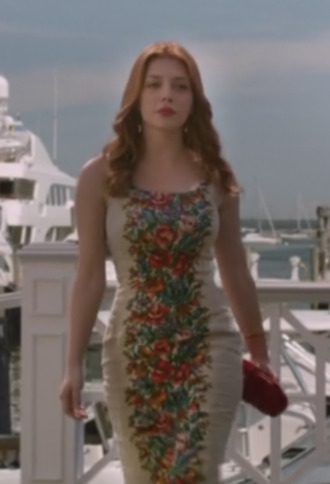 dress floral dress revenge louis ellis elena satine