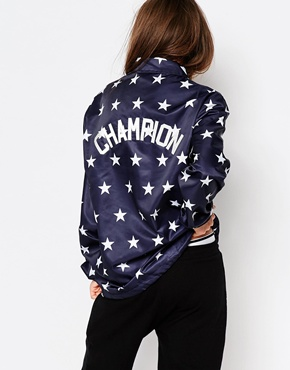 29906b00 Champion Coach Style Jacket In Star Print at asos.com