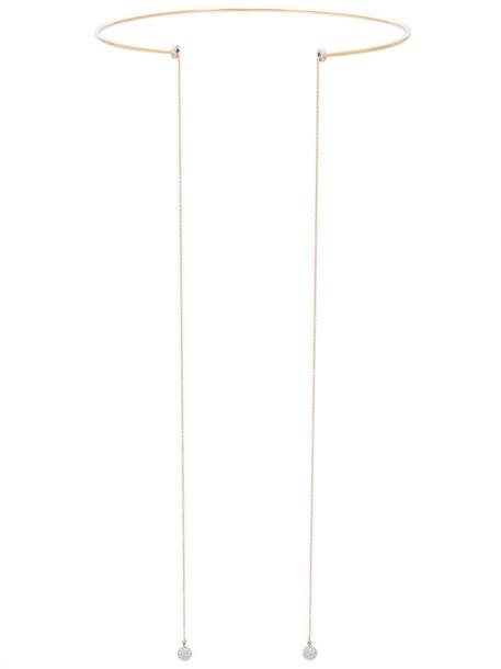 Delfina Delettrez women necklace gold grey metallic jewels