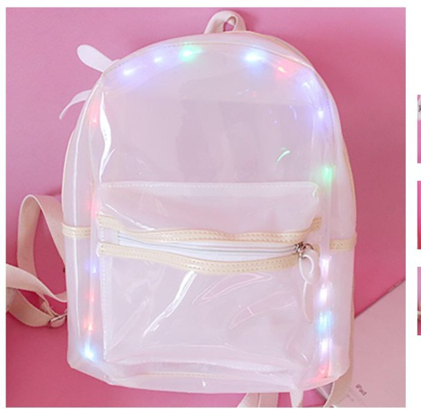 bag girly light light up backpack light up backpack cute