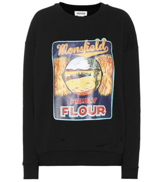 Monse Printed cotton sweatshirt in black