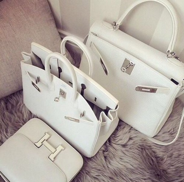 bag cool hermes kelly bag hermes hermes bag white bag tote bag handbag