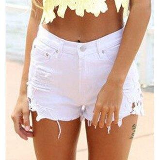 shorts denim rose wholesale lace denim shorts summer high waisted shorts cute