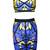 Multi Crop Tee With Owl Print Bandage Skirt - Sheinside.com