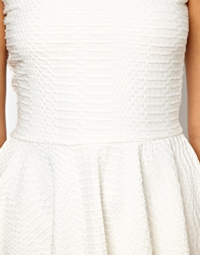 River island textured skater dress at asos