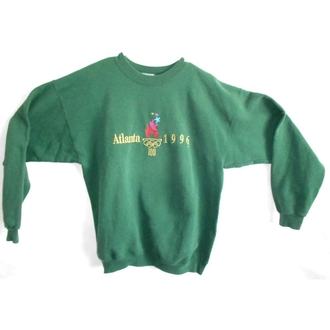 sweater vintage olympics year 1996 green