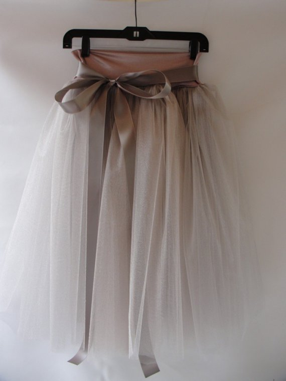 Dusty Rose Tulle Skirt by ouma on Etsy