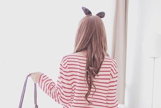 t-shirt striped shirt kfashion korean fashion asian asian fashion