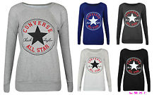 NEW Ladies Womens Converse ALL Star Sportswear Sweatshirt TOP Jumper Size 8 14 | eBay