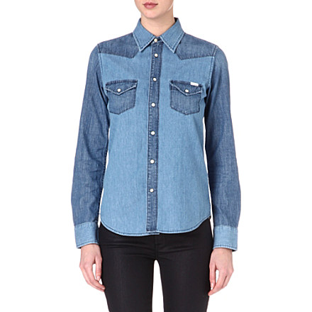 MOTHER - All My Exes denim shirt | Selfridges.com