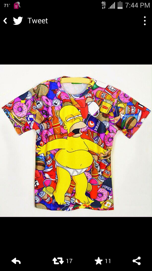 the simpsons homer simpson dope t