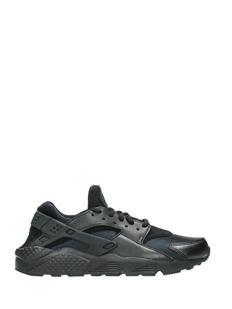 Nike run sneakers leather black black leather shoes