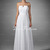 Cheap A-Line/Princess White Sweetheart Floor-Length Chiffon Prom Dress With Ruffle 794917020 - Dresslovefirst.com