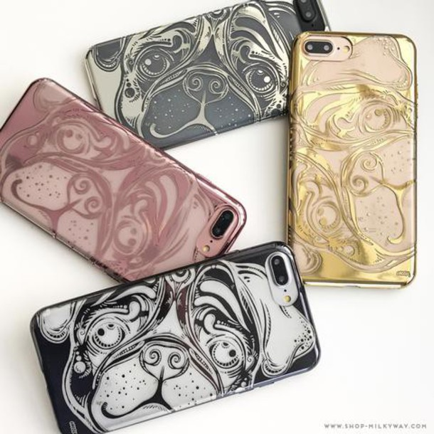Milkyway Cases CHROME TPU CASE - PUG in gold