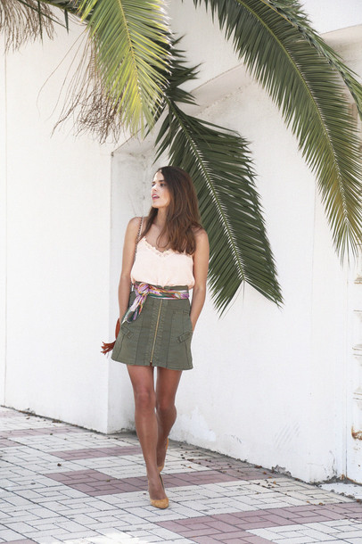 seams for a desire blogger top skirt scarf shoes bag sunglasses shorts