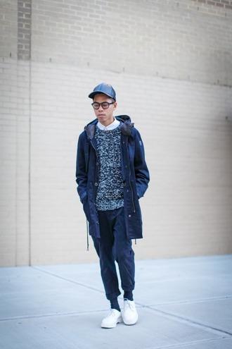 closet freaks blogger hipster menswear cap mens sweater jacket sweater pants shoes mens parka mens cable knit jumper mens cap