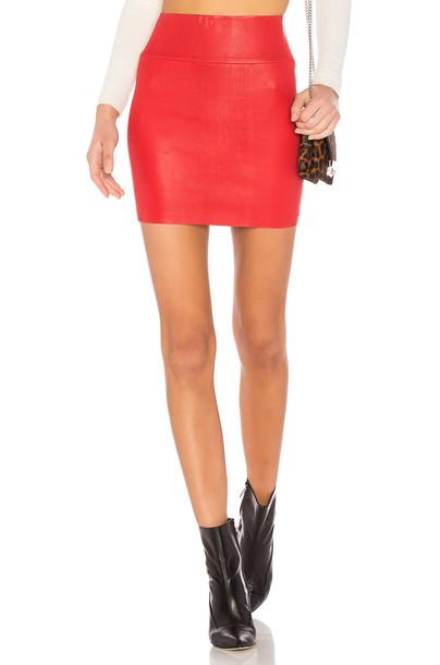 SPRWMN skirt mini skirt mini leather red