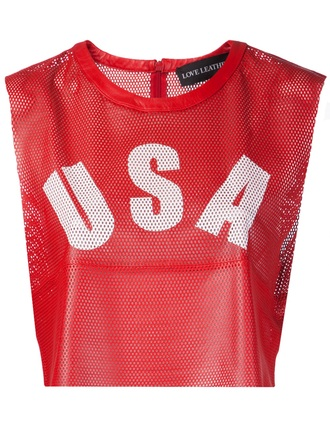 tank top usa tank usa top red love leather