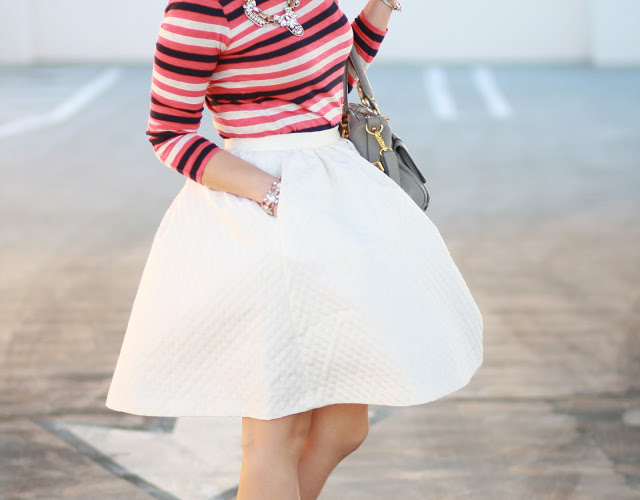 simplyxclassic: OOTD: Stripes and White