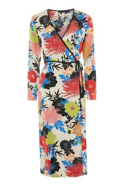 Topshop dress wrap dress floral print
