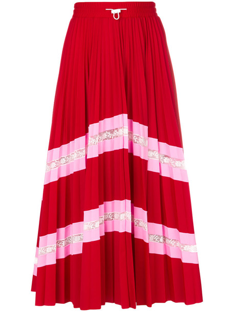 Valentino skirt midi skirt pleated women midi spandex red