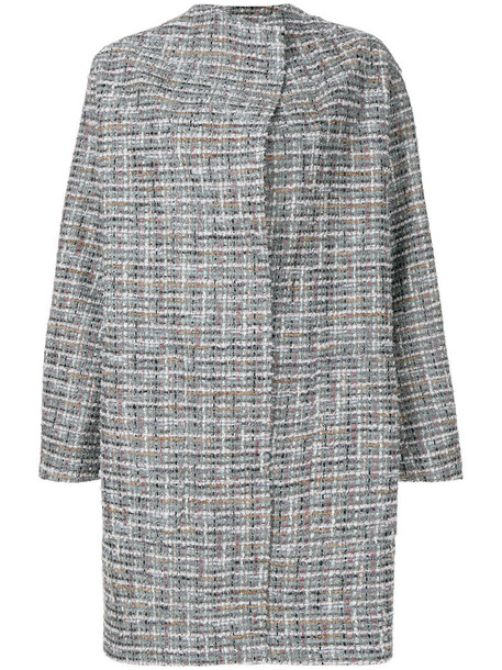 Antonio Marras coat embroidered women cotton wool grey
