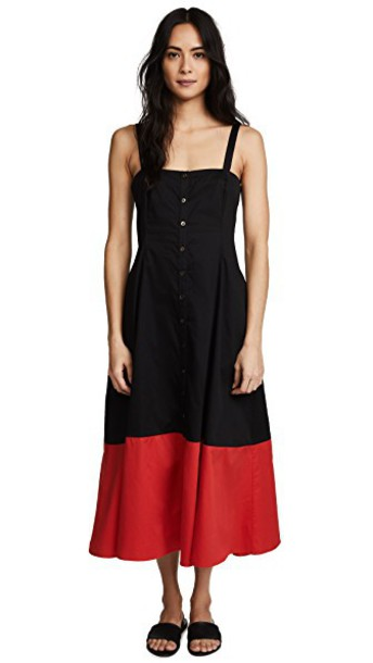 Mara Hoffman dress black red