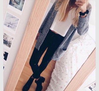 cardigan in love white grey heather grey cute love jeans trendy trendy vibes fit black classic
