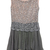 Grey Sleeveless Sequined Pleated Bead Dress - Sheinside.com