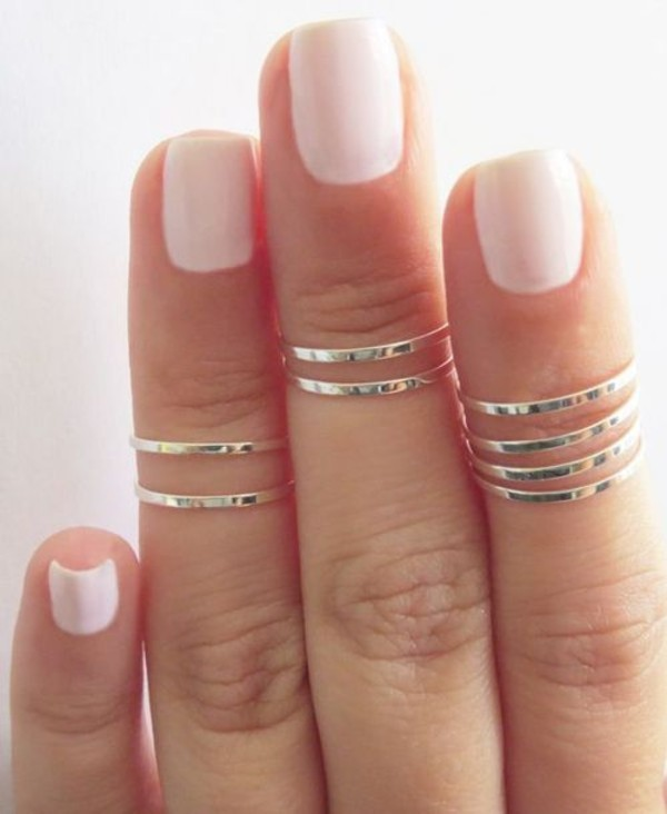 jewels ring silver accessories nail polish