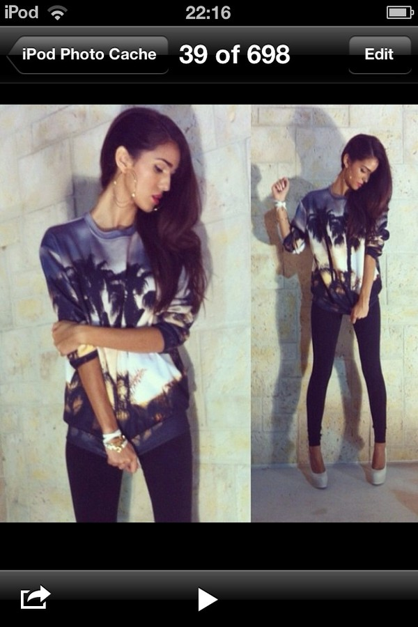 sweater ashley sky tropical