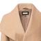 Khaki lapel long sleeve belt woolen coat - sheinside.com