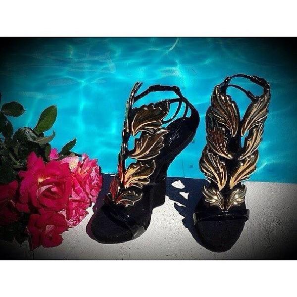 8fa1dba55825 Womens Roman Gladiator Angel Wing High Heel Strappy Summer Open Toe ...