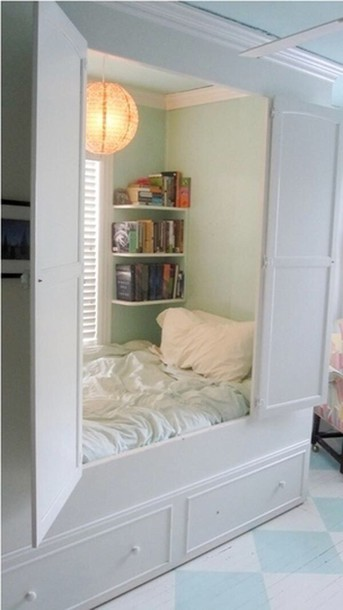 home accessory bedding built in bed bookshelf home decor book window teeager attic room bedroom kids room pastel