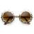 Womens Fashion Metal Lace Cut Round Circle Fashion Sunglasses 8963                           | zeroUV