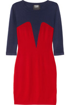 Markus Lupfer | Bodice intarsia merino wool sweater dress | NET-A-PORTER.COM