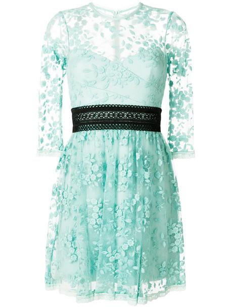dress women lace cotton green
